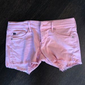 AG Dusty Rose Denim Shorts